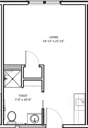 Standard Studio floorplan